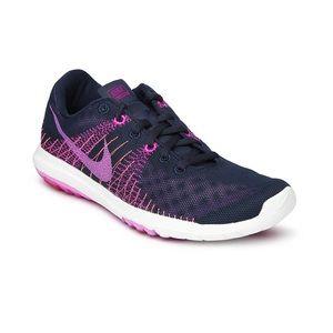Nike Flex Fury Navy Purple Sneakers 7.5